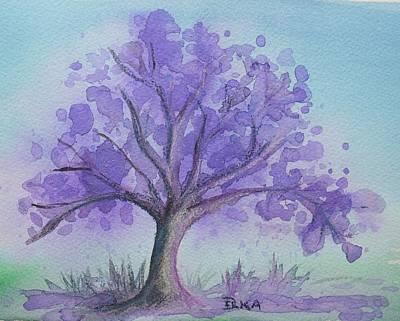 Jacaranda Tree Painting - Jacaranda by Dianne  Ilka