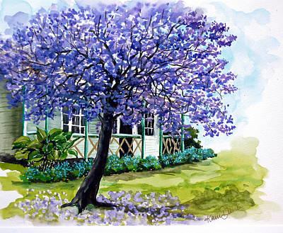 Jacaranda Tree Painting - Jacaranda  by Karin  Dawn Kelshall- Best