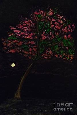 Reflective Drawing - Jacaranda Spotlight by Ishy Christine Degyansky