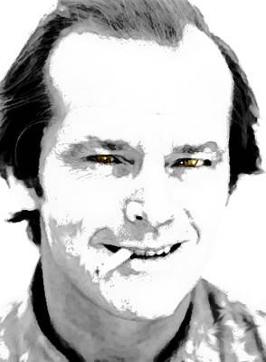 Jack Nicholson Drawing - Jack B N W  by Enki Art