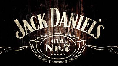Liquor Mixed Media - Jack Daniel's Barn Door by Dan Sproul
