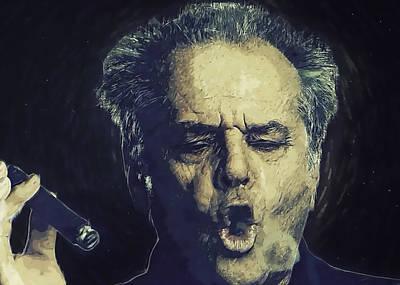 Cuckoo Digital Art - Jack Nicholson 2 by Semih Yurdabak