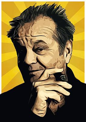 Cuckoo Digital Art - Jack Nicholson 3 by Semih Yurdabak