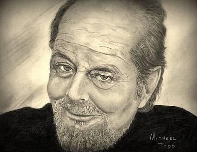 Jack Nicholson Drawing - Jack Nicholson by Michael Todd