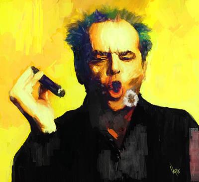 Jack Nicholson Painting - Jack Nicholson  by Vya Artist