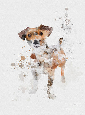 Adorable Mixed Media - Jack Russell Terrier by Rebecca Jenkins