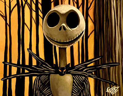 Jack Skelington Print by Tom Carlton