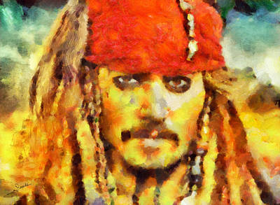 Sea Painting - Jack Sparrow by George Rossidis