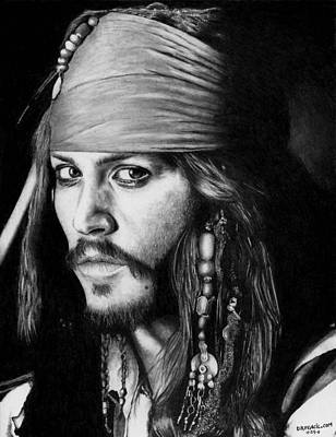 Johnny Depp Drawing - Jack Sparrow by Rick Fortson