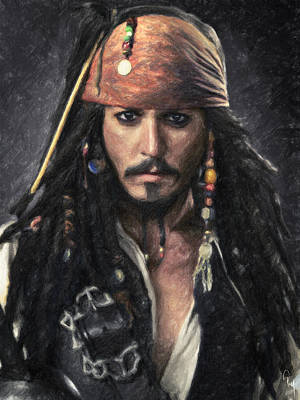 Of Pirate Ships Painting - Jack Sparrow by Taylan Soyturk