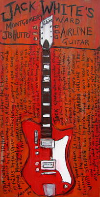 Guitar Painting - Jack White's Airline Jb Hutto by Karl Haglund