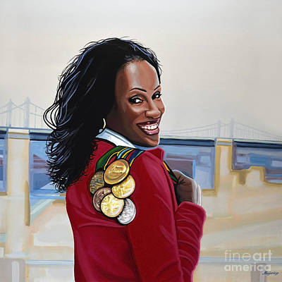 Queen Painting - Jackie Joyner Kersee by Paul Meijering
