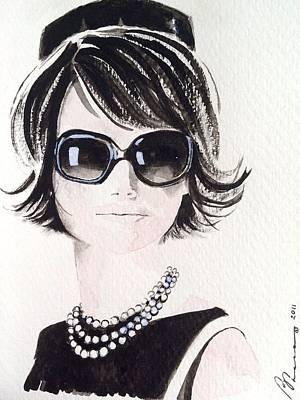 Jackie O Print by Barbara Chase