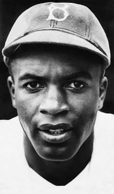 Ev-in Photograph - Jackie Robinson, Brooklyn Dodgers, 1947 by Everett