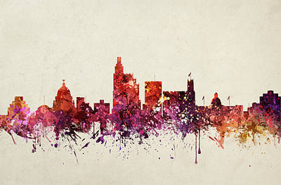 Jackson Cityscape 09 Print by Aged Pixel
