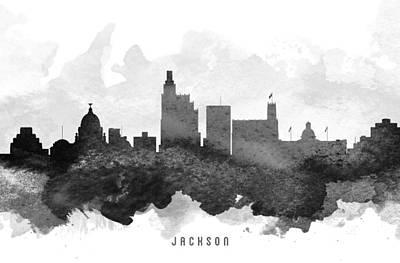 Mississippi Digital Art - Jackson Cityscape 11 by Aged Pixel