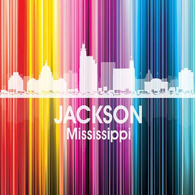 City Mixed Media - Jackson Ms 2 Squared by Angelina Vick