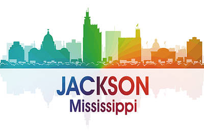 Jackson Ms Print by Angelina Vick