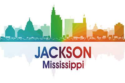 Skyscraper Mixed Media - Jackson Ms by Angelina Vick
