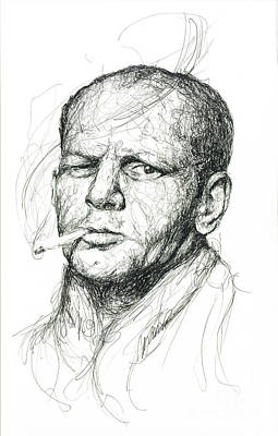 Michael Jackson Art Drawing - Jackson Pollock by Michael  Volpicelli