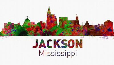 United States Digital Art - Jackson Skyline - Usa City by Michael Vicin