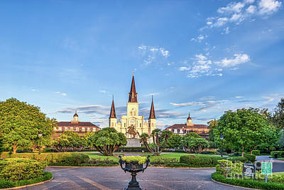 Landmarks Photograph - Jackson Square New Orleans by Tod and Cynthia Grubbs