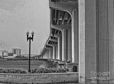 Jacksonville Fuller Warren Bridge Print by Luther Fine Art