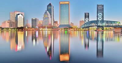 Jacksonville Reflecting Print by Frozen in Time Fine Art Photography