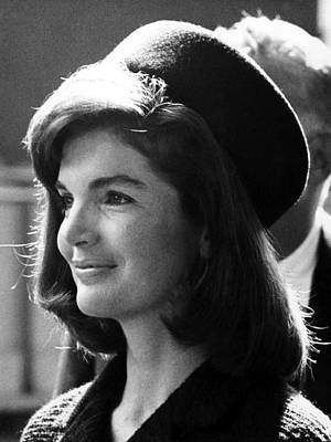 Ev-in Photograph - Jacqueline Kennedy, Joins The President by Everett
