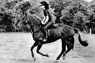 Jacqueline Kennedy, Riding A Horse Print by Everett