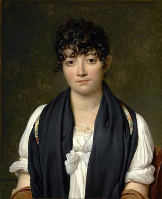 Jacques-louis David - Suzanne Le Peletier De Saint-fargeau Print by Bishopston Fine Art
