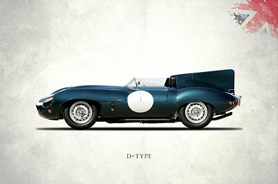 Jaguar Photograph - Jaguar D-type by Mark Rogan