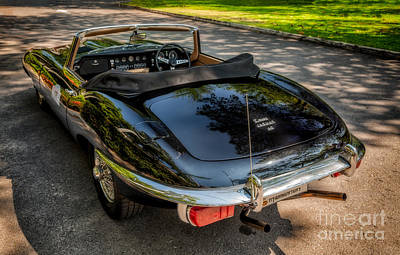 Jaguar E-type Print by Adrian Evans