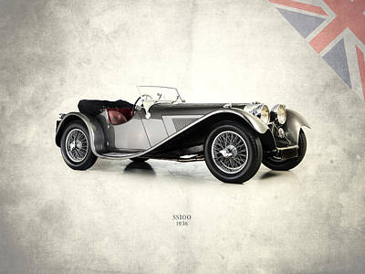 Jaguar Ss100 1936 Print by Mark Rogan