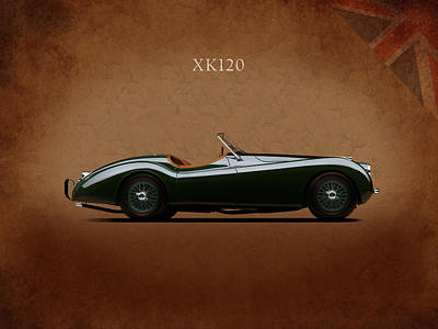1949 Photograph - Jaguar Xk120 1949 by Mark Rogan