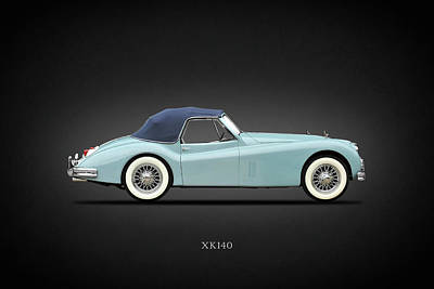 Jaguar Photograph - Jaguar Xk140 by Mark Rogan