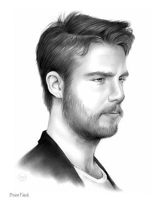 Finch Drawing - Jake Mcdorman by Greg Joens