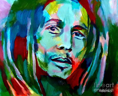 Bob Marley Abstract Painting - Jamaica by Helena Wierzbicki
