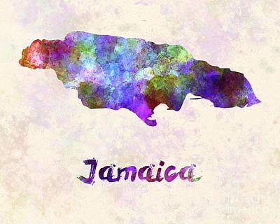 Jamaican Art Painting - Jamaica In Watercolor by Pablo Romero