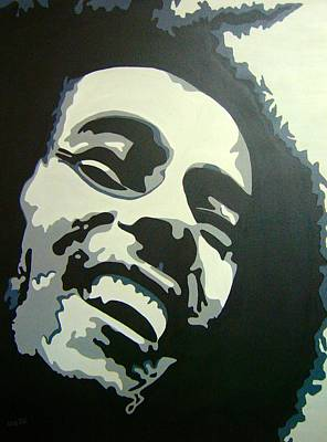 Jamaican Art Painting - Jamaican Rastaman by Una  Miller