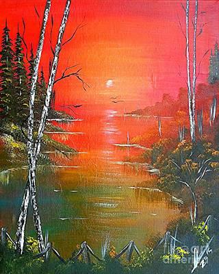Jamaican Art Painting - Jamaican Sunrise by Collin A Clarke