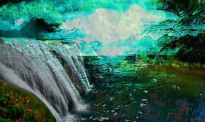 Jamaican Waterfall Print by Paul Sutcliffe