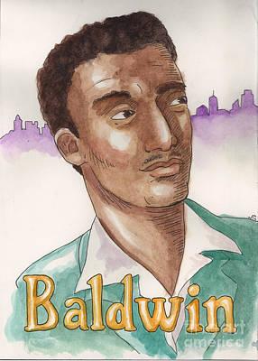 James Baldwin Print by Whitney Morton