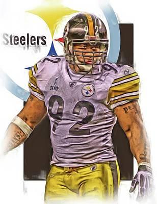 Harrison Mixed Media - James Harrison Pittsburgh Steelers Oil Art by Joe Hamilton