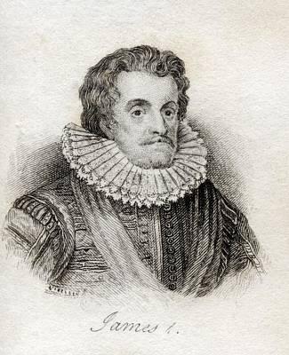 James I 1566-1625 First Stuart King Of Print by Vintage Design Pics