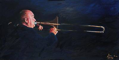 James Morrison And His Trombone  Autographed Original by Dave Manning