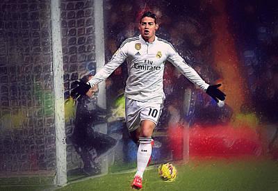 Cristiano Ronaldo Digital Art - James Rodrigez by Semih Yurdabak