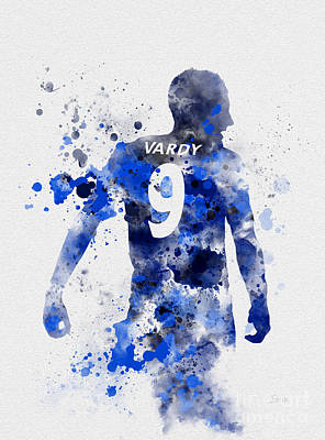 Fox Mixed Media - Jamie Vardy by Rebecca Jenkins
