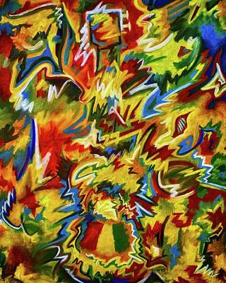 Bob Marley Abstract Painting - Jammin' by Brena Patchen