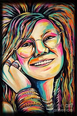 Janis Joplin Print by Amy Belonio